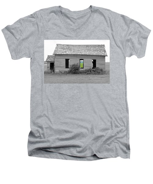 Window To The Future Men's V-Neck T-Shirt