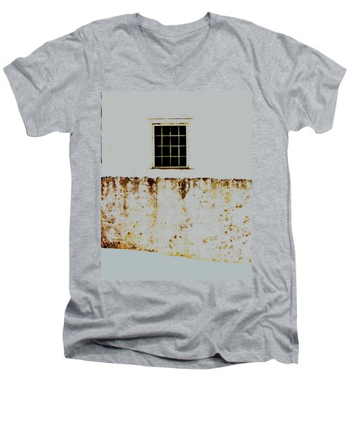 Window Wall And Snow Men's V-Neck T-Shirt