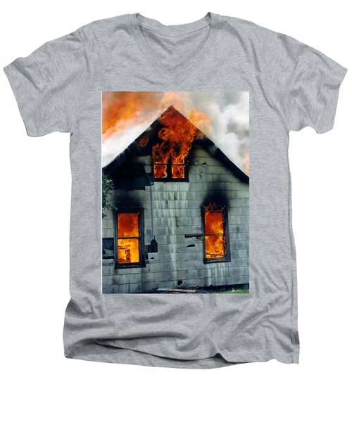 Windows Aflame Men's V-Neck T-Shirt