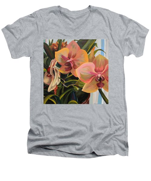Windowsill Orchids Men's V-Neck T-Shirt