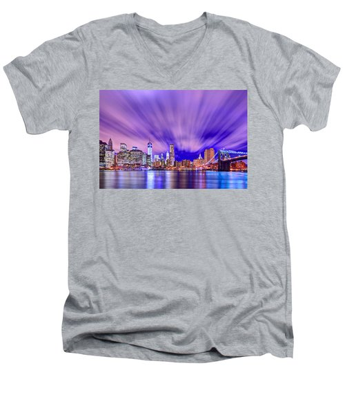 Winds Of Lights Men's V-Neck T-Shirt by Midori Chan