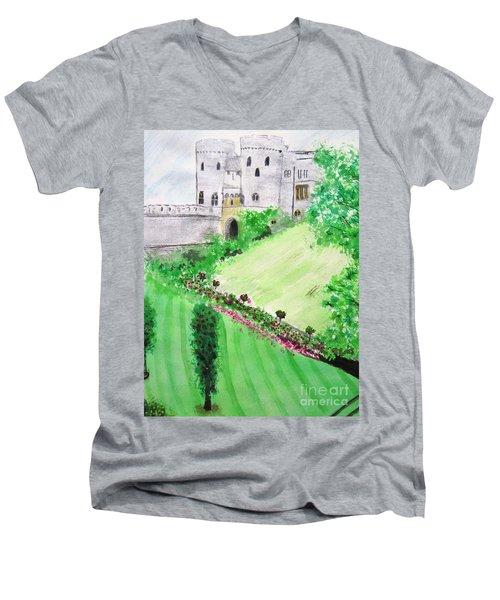 Windsor Castle Men's V-Neck T-Shirt