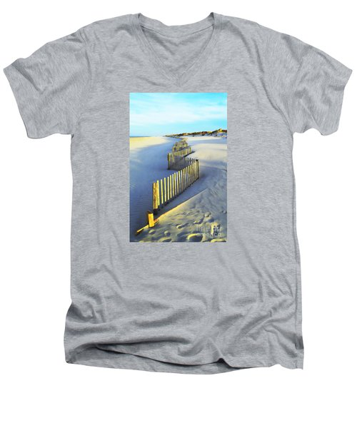 Windswept At Sunset - Jersey Shore Men's V-Neck T-Shirt