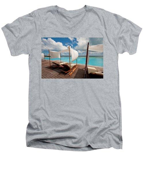Windy Day At Maldives Men's V-Neck T-Shirt