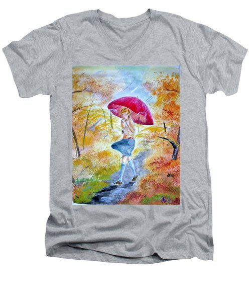 Windy Day Men's V-Neck T-Shirt
