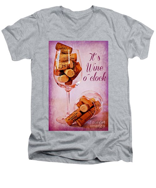 Wine Time Men's V-Neck T-Shirt
