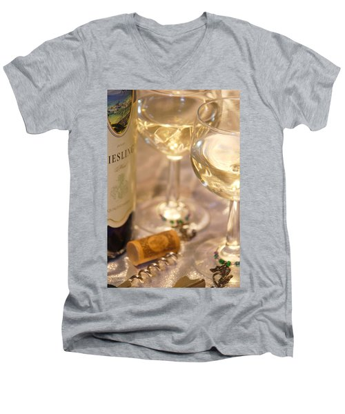 Wine With Friends Men's V-Neck T-Shirt