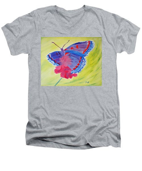 Winged Delight Men's V-Neck T-Shirt