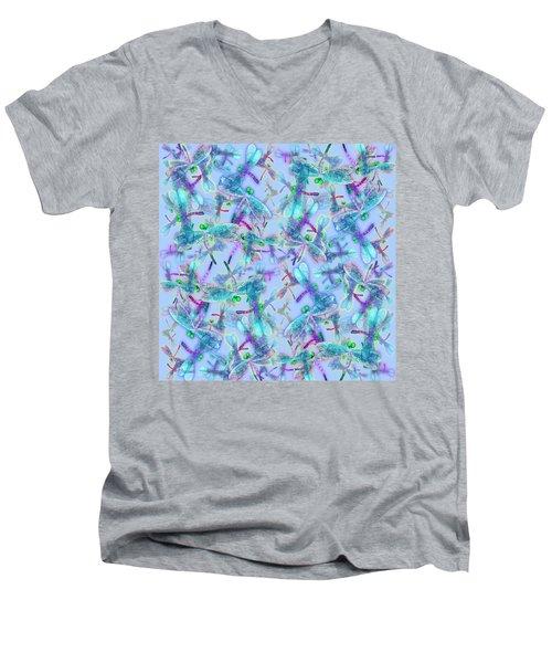 Wings On Blue Duvet Cover Men's V-Neck T-Shirt