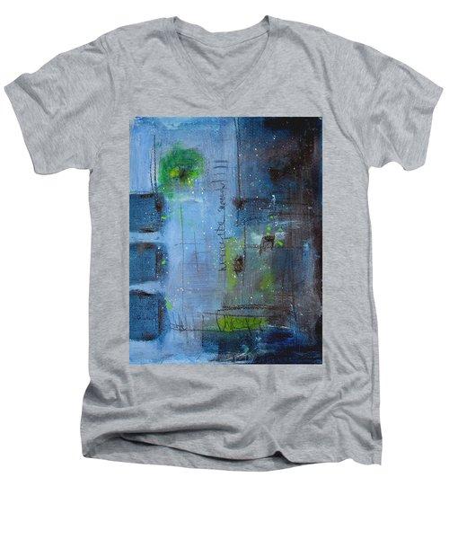 Winter 2 Men's V-Neck T-Shirt by Nicole Nadeau