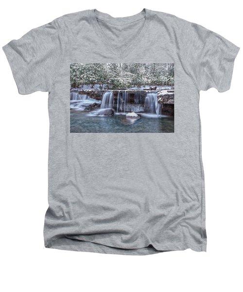 Winter A Camp Creek Men's V-Neck T-Shirt