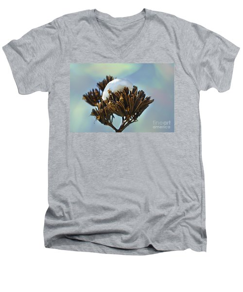 Winter Agave Bloom Men's V-Neck T-Shirt