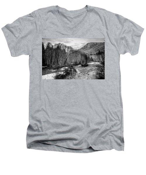 Winter Backroads Englishman River Men's V-Neck T-Shirt