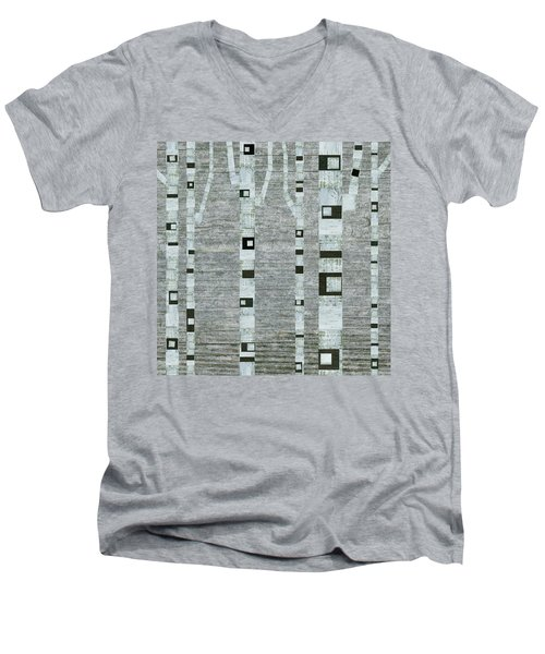 Winter Birches Men's V-Neck T-Shirt