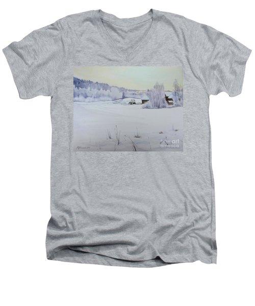 Winter Blanket Men's V-Neck T-Shirt by Martin Howard