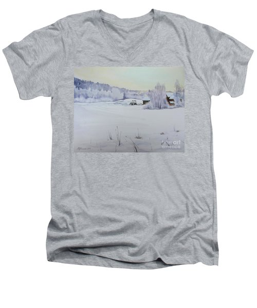 Winter Blanket Men's V-Neck T-Shirt
