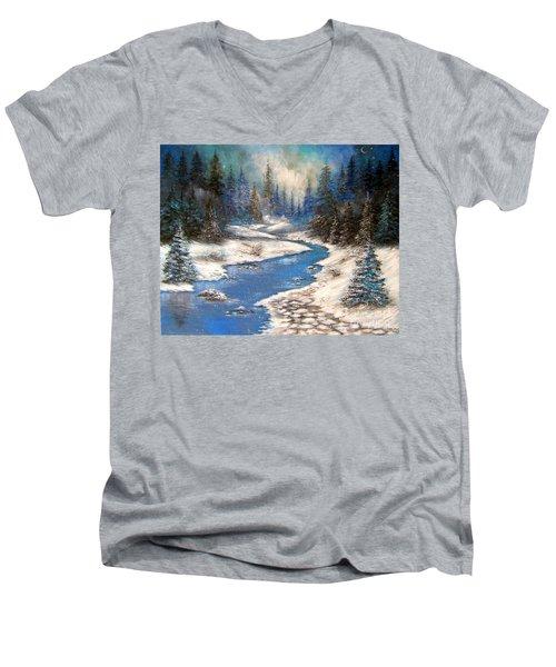 One Little Blue Men's V-Neck T-Shirt