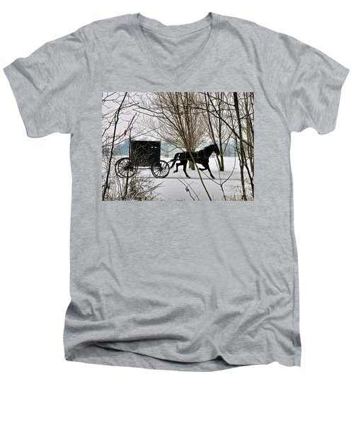 Winter Buggy Men's V-Neck T-Shirt