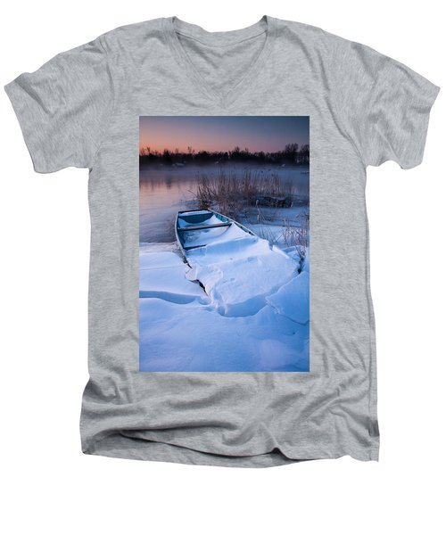 Men's V-Neck T-Shirt featuring the photograph Winter Dawn by Davorin Mance