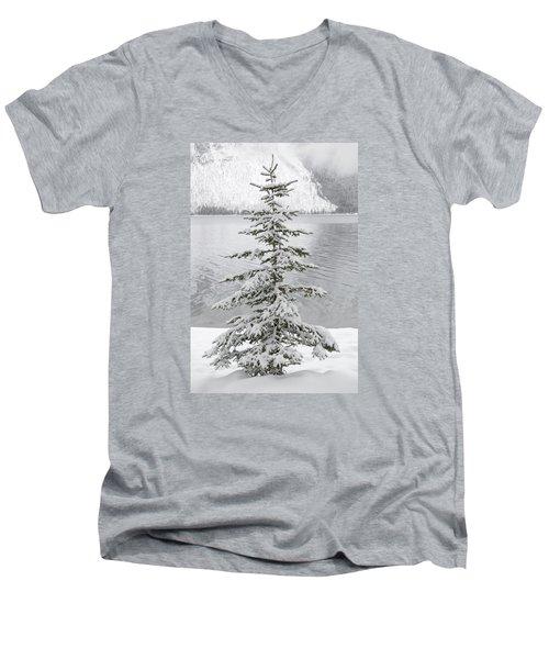 Winter Decor Men's V-Neck T-Shirt by Diane Bohna