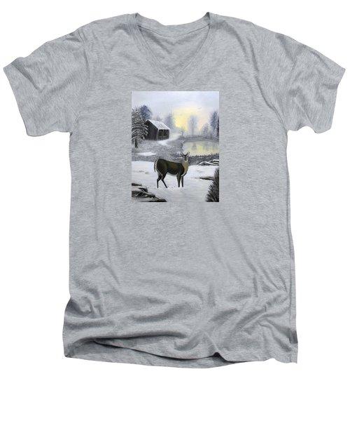 Winter Doe Men's V-Neck T-Shirt