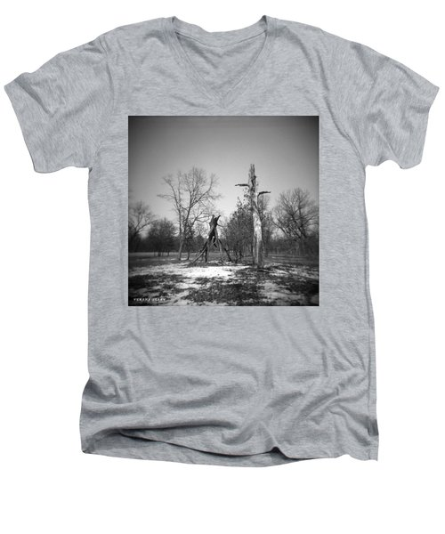 Winter Forest Series 4 Men's V-Neck T-Shirt by Verana Stark