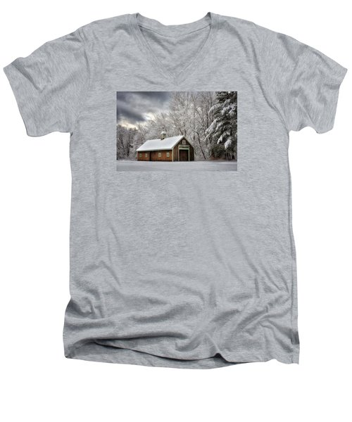 Winter Glow Men's V-Neck T-Shirt by Tricia Marchlik