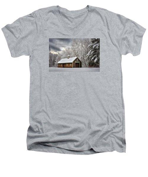 Winter Glow Men's V-Neck T-Shirt