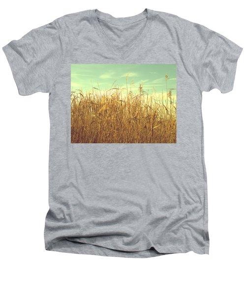 Winter Grass Men's V-Neck T-Shirt