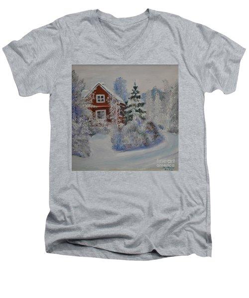 Winter In Finland Men's V-Neck T-Shirt