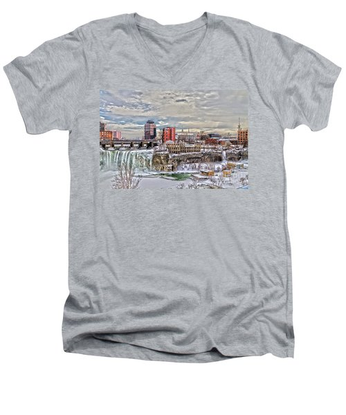 Winter In Rochester Men's V-Neck T-Shirt