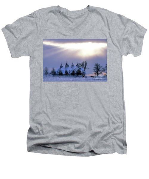 Winter In The Bluegrass - Fs000286 Men's V-Neck T-Shirt