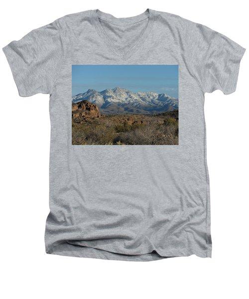 Winter In The Haulapai's Men's V-Neck T-Shirt