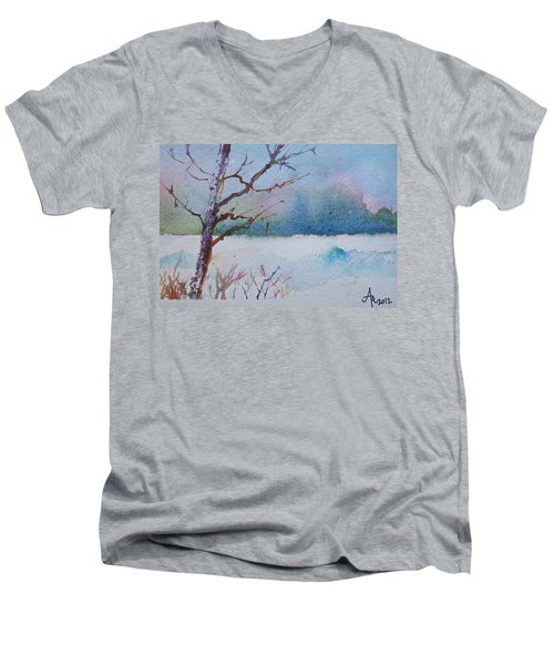 Winter Loneliness Men's V-Neck T-Shirt