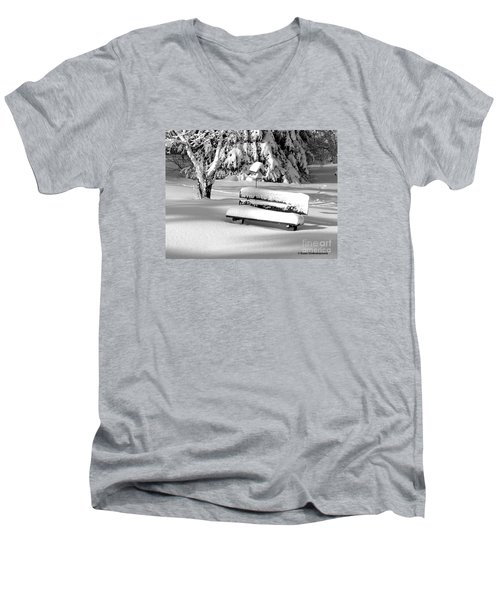 Men's V-Neck T-Shirt featuring the photograph Winter Morning by Susan  Dimitrakopoulos