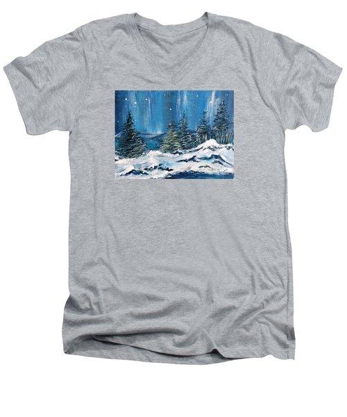 Winter Night Men's V-Neck T-Shirt