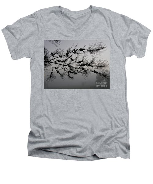 Winter Pine Branch Men's V-Neck T-Shirt