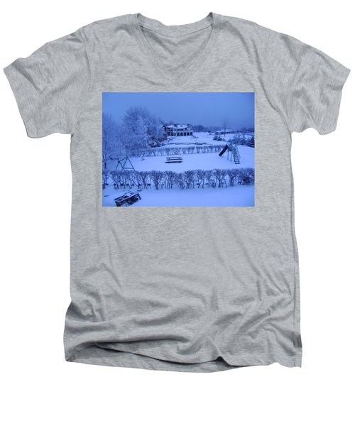 Winter Playground Men's V-Neck T-Shirt