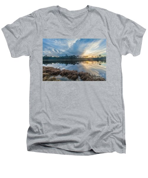 Winter Reflection-1 Men's V-Neck T-Shirt