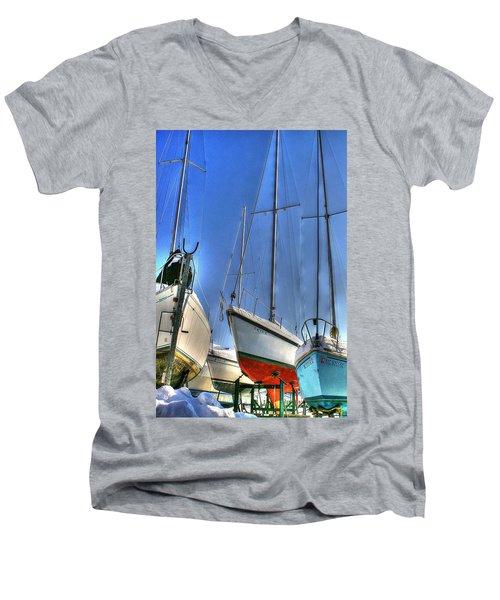 Winter Shipyard Men's V-Neck T-Shirt
