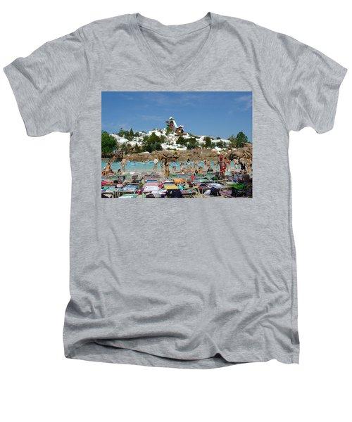 Men's V-Neck T-Shirt featuring the photograph Winter Shore Line by David Nicholls
