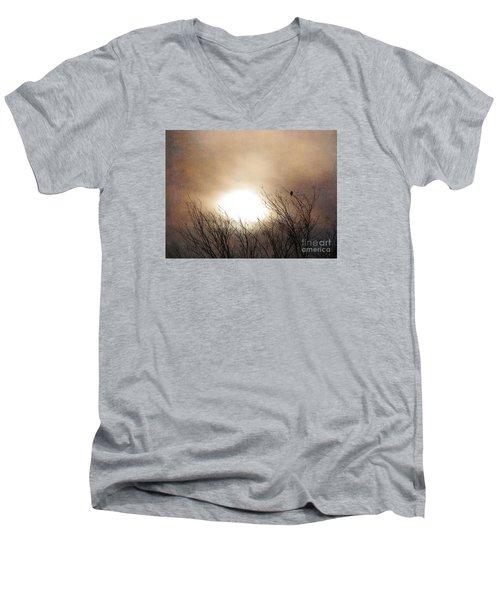 Winter Solstice Men's V-Neck T-Shirt by Roselynne Broussard