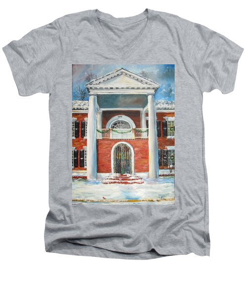 Winter Spirit In Dahlonega Men's V-Neck T-Shirt