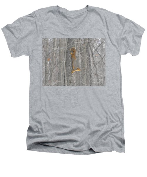 Winter Squirrel Men's V-Neck T-Shirt