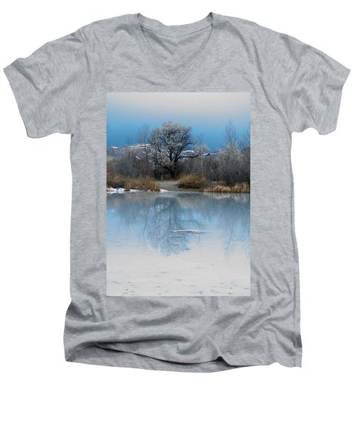 Winter Taking Hold Men's V-Neck T-Shirt