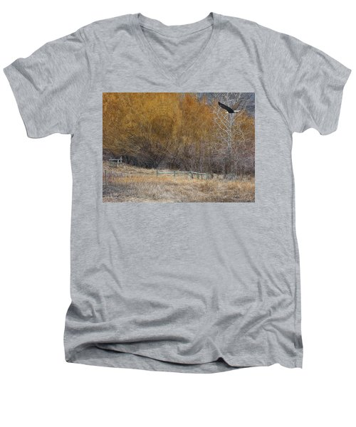 Winter Thaw Men's V-Neck T-Shirt by Ed Hall