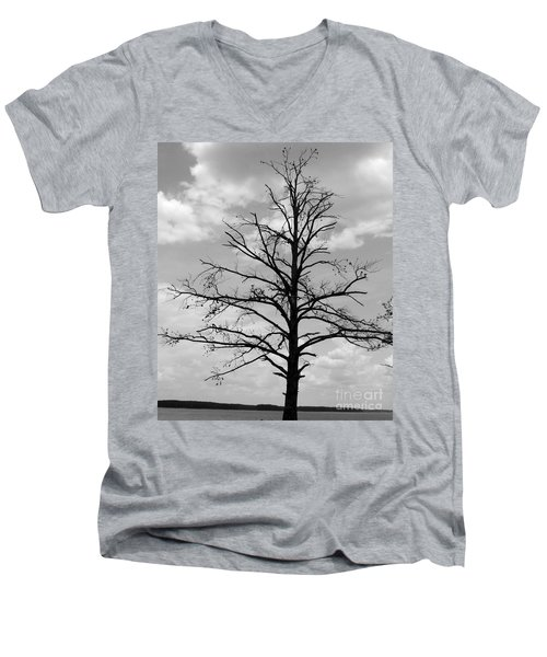 Men's V-Neck T-Shirt featuring the photograph Winter Tree by Andrea Anderegg