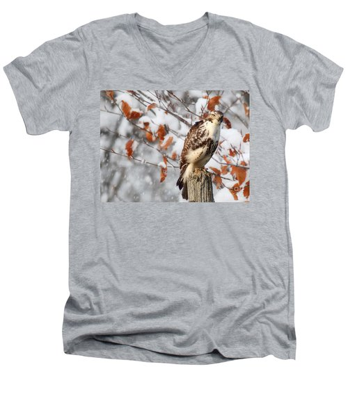 Winter Visitor  Men's V-Neck T-Shirt