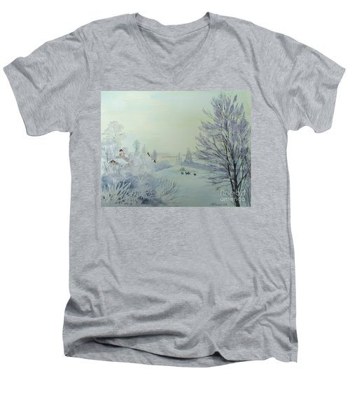 Winter Visitors Men's V-Neck T-Shirt