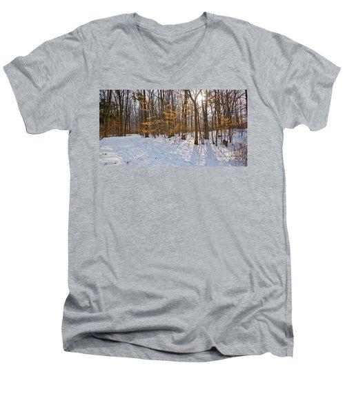 Winter Walk Men's V-Neck T-Shirt